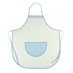 Zástěra kuchyňská SRDÍČKO modrá