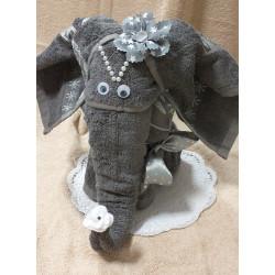 Slon ŠTĚSTÍ šedý