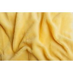 Mikroflanel prostěradlo žluté