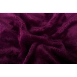 Mikroflanel prostěradlo tmavě fialové