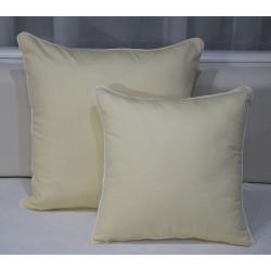 Polštářek TRIXI šedá/bílá SADA (Povlak + polštář z dutého vlákna)